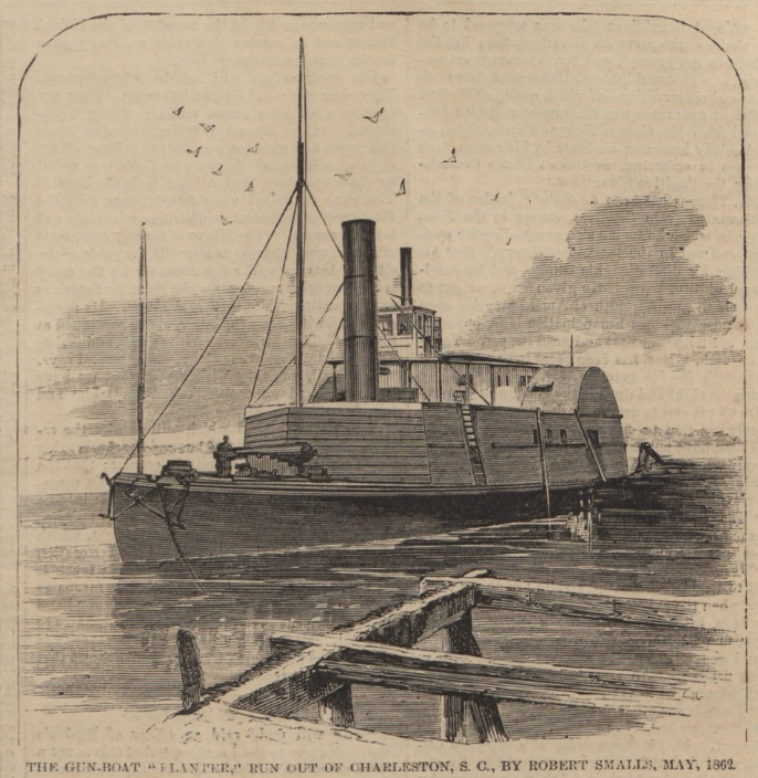 "The steamer ""Planter"" in Harper's Weekly"