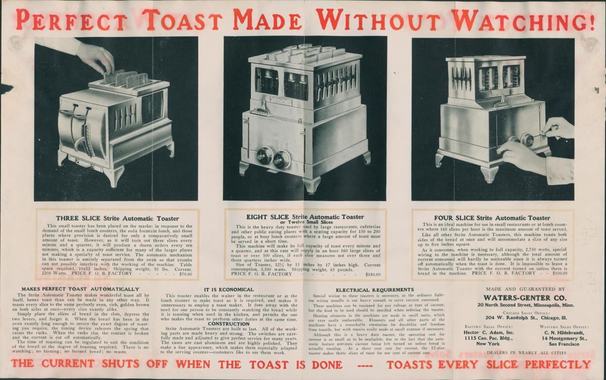 Advertisement for Strite automatic toaster