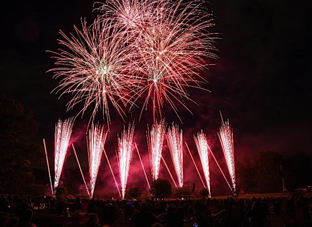 fireworks at Hagley
