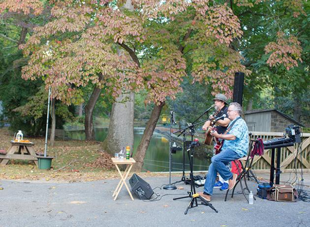 musicians performing at hagley