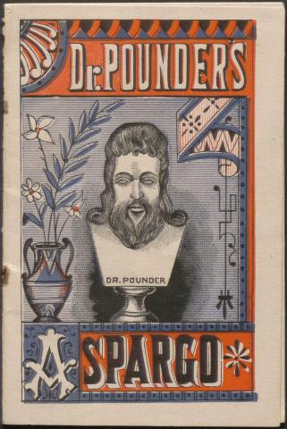 Illustrated cover for a patent medicine pamphlet