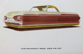 Design drawing for an experimental hover-car