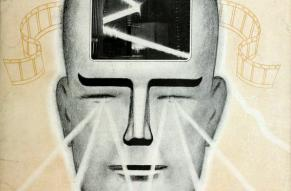 Magazine cover featuring an illustration of a head visualizing various visual displays.