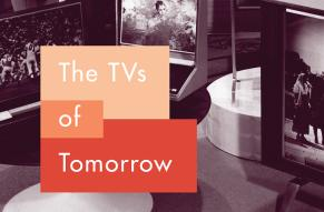 Detail of book cover for The TVs of Tomorrow: How RCA's Flat-Screen Dreams Led to the First LCDs