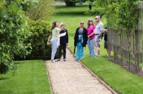 People in the E. I. du Pont Garden