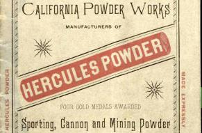 Trade catalog cover for Hercules Powder: Sporting, Cannon and Mining Powder