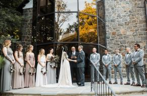 Wedding in front of Hagley