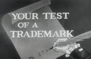 "Still from ""Your Test of a Trademark"" DuPont commercial, 1953"