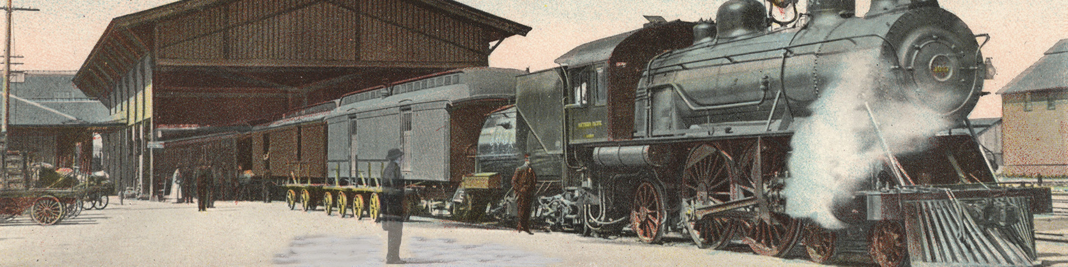 Train station postcard