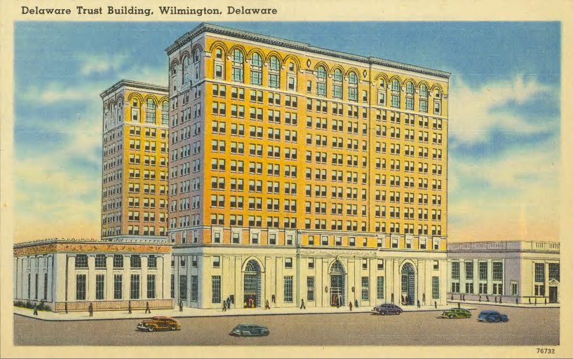 Postcard of Delaware Trust Building
