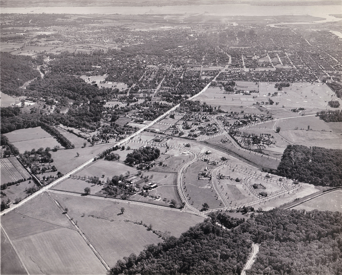 Aerial view of Westover Hills