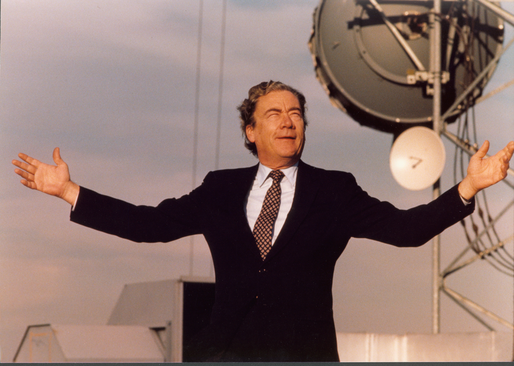 William G. McGowan on Top of Microwave Tower